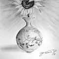 Vase With One Sunflower by Jose A Gonzalez Jr