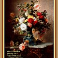 Vase With Roses And Other Flowers L A With Alt. Decorative Ornate Printed Frame. by Gert J Rheeders