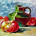 Vase With Tomatoes by Khalid Saeed