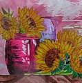 Vases With Flowers by John Vandebrooke