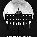 Vatican City Landmark Black by Naxart Studio