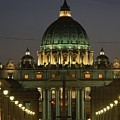 Vatican, Rome, Italy.  Night View by Richard Nowitz