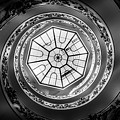 Vatican Staircase Looking Up Black And White by Mike Houghton BlueMaxPhotography