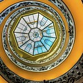 Vatican Staircase Looking Up by Mike Houghton BlueMaxPhotography