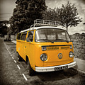 Vdub In Orange  by Rob Hawkins