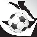 Vector Soccer Ball. Corner Kick Graphic Symbol by Yanin Kongurai