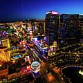 Vegas At Dusk by Robert Moorhead