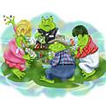 Vegas Frogs Playing Poker by Shari Warren