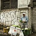 Vegetable Vendor Havana Cuba by Joan Carroll