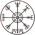 Vegvisir Icelandic Stave by Early Kirky