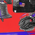 Vehicle Liberty Bell Paul Revere Flag Bicentennial Of Constitution Tucson Arizona 1987-2015 by David Lee Guss