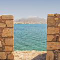 Veiw Of Lerapetra From Kales Fort Portrait Composition by Antony McAulay