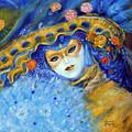 Venetian Carneval Mask With Feathers by Leonardo Ruggieri
