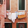 Venetian Laundry In Peach And Pink by Brooke T Ryan