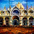 Venice - Pigeons On San Marco Square by Leonid Afremov