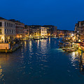 Venice And The Grand Canal In The Evening by Riccardo Zimmitti