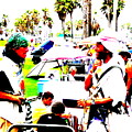 Venice Beach Artsy Crowd by Funkpix Photo Hunter