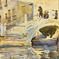 Venice. Bridge With Figures  by John Singer Sargent