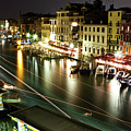 Venice Canal At Night by Patrick English