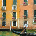 Venice Canal Boat by Diana Ralph