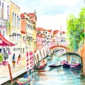 Venice Canal Boscolo Venezia by Carlin Blahnik CarlinArtWatercolor