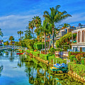 Venice Canals And Houses 4 by David Zanzinger