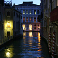Venice Canals At Night by Jim Kuhlmann