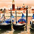 Venice, City Of Romance, Italy, Gondolas by Long Shot