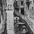 Venice Docked Boats by Jovanni Casaus