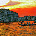 Venice Eventide Impasto by Steve Harrington