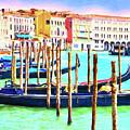 Venice Gondolas by Dominic Piperata