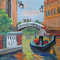 Venice Gondolier 1 by Diane McClary