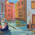 Venice Gondolier 2 by Diane McClary