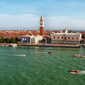Venice Grand Canal And St Mark's Campanile by Leighton Collins