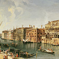 Venice, Grand Canal And The Fondaco Dei Turchi  by Michele Marieschi
