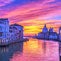Venice Grand Canal At Sunset by Dominic Piperata
