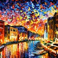 Venice - Grand Canal by Leonid Afremov
