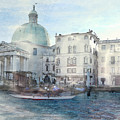Venice Grand Canal Watercolour  by Elizabetha Fox