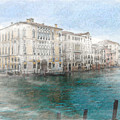 Venice Grand Canal Watercolour Painting by Elizabetha Fox