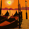 Venice In Orange by Ian  MacDonald