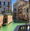 Venice Italy Canal And Lovely Old Houses by Matthias Hauser
