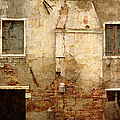 Venice Italy Crumbling Stucco Wall by Suzanne Powers