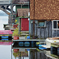 Venice On The Big Muddy Winona Mn Boathouses by Kari Yearous