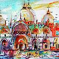 Venice Piazza Saint Marco Basilica by Ginette Callaway