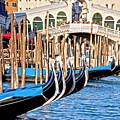 Venice Sunny Rialto Bridge by Heiko Koehrer-Wagner