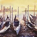 Venice Watercolor- Italy by Ryan Fox