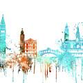 Venice Watercolor Skyline by Dim Dom