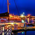 Ventura Harbor At Night by Mariola Bitner