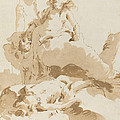 Venus And Cupid Discovering The Body Of Adonis by Giovanni Battista Tiepolo