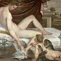 Venus And Cupid by Lambert Sustris